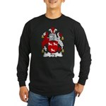 Fry Family Crest Long Sleeve Dark T-Shirt