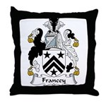 Francey Family Crest  Throw Pillow