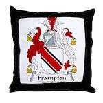 Frampton Family Crest Throw Pillow