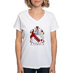 Frampton Family Crest Women's V-Neck T-Shirt