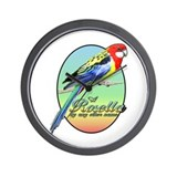 Rosella By Name Wall Clock