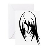 Emo.Girl.2 Greeting Card