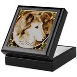 Antique Collie Keepsake Box