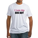 I Love My BUS BOY Fitted T-Shirt