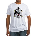 Farmer Family Crest  Fitted T-Shirt