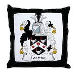 Farmer Family Crest  Throw Pillow