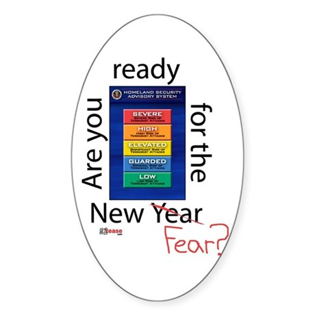 New Year (fear) Oval Sticker