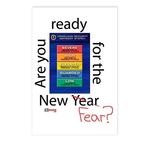 New Year (fear) Postcards (Package of 8)