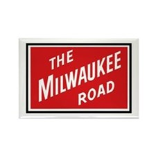 Milwaukee Road 2 Rectangle Magnet