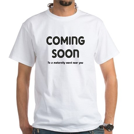 Coming Soon White T-Shirt