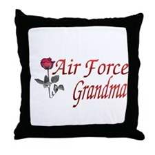 air force grandma Throw Pillow