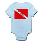 Cute Florida flag Infant Bodysuit