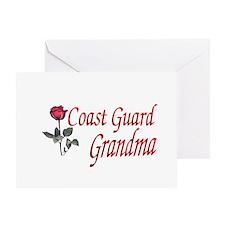 coast guard grandma Greeting Card