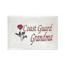 coast guard grandma Rectangle Magnet