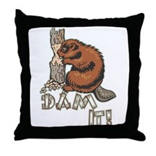 Dam It Throw Pillow