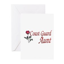 coast guard aunt Greeting Cards (Pk of 10)