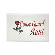 coast guard aunt Rectangle Magnet