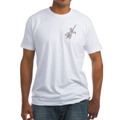 Climbing Lizard Fitted T-Shirt