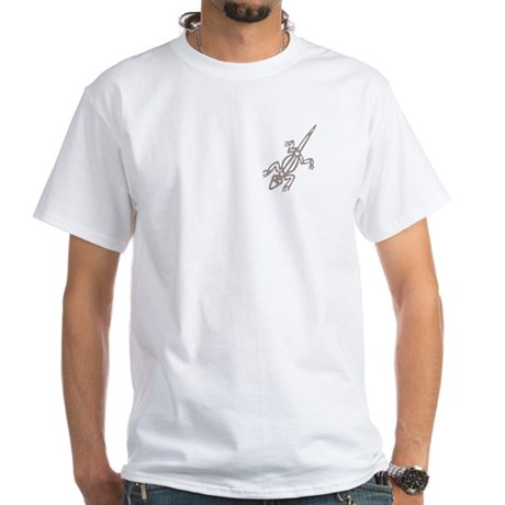 Climbing Lizard White T-Shirt