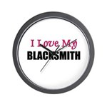 I Love My BLACKSMITH Wall Clock
