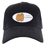 I Love Pomeranians Baseball Hat