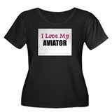 I Love My AVIATOR Women's Plus Size Scoop Neck Dar