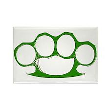 Green Brass Knuckles Rectangle Magnet