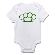 Green Brass Knuckles Infant Bodysuit