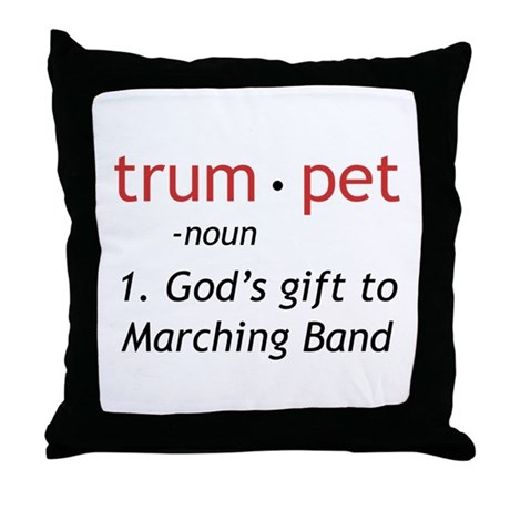 God's Gift Trumpet Throw Pillow
