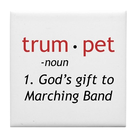 God's Gift Trumpet Tile Coaster