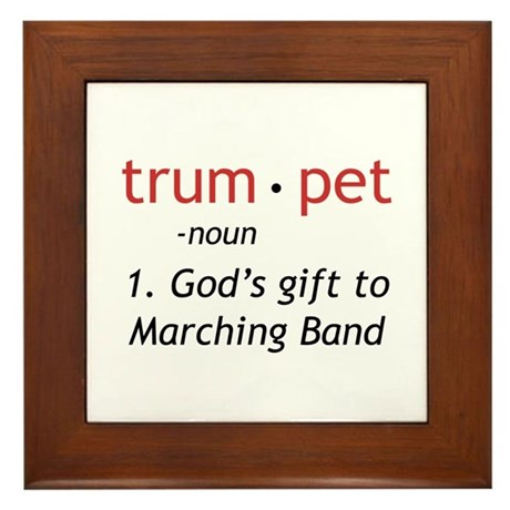 God's Gift Trumpet Framed Tile