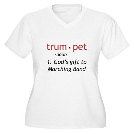 God's Gift Trumpet Women's Plus Size V-Neck T-Shir
