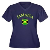 Jamaica reggae Boys Women's Plus Size V-Neck Dark