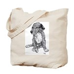 Merle Great Dane puppy in dots Tote Bag