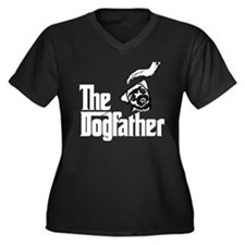 Border Terrier Women's Plus Size V-Neck Dark T-Shi