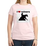 I love reiners slider Women's Pink T-Shirt