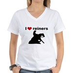 I love reiners Women's V-Neck T-Shirt