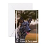 German Shepherd Dog-4 Greeting Cards (Pk of 10)