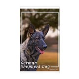 German Shepherd Dog-4 Rectangle Decal