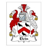 Elvin Family Crest Small Poster