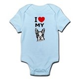 Boston Terrier  Baby Onesie