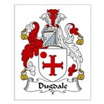 Dugdale Family Crest Small Poster