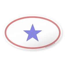 Service Member Oval Sticker (One Family Member)