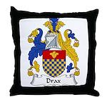 Drax Family Crest Throw Pillow