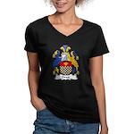 Drax Family Crest Women's V-Neck Dark T-Shirt