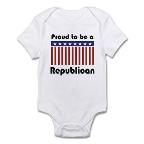 Proud to be a Republican Infant Bodysuit