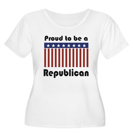 Proud to be a Republican Women's Plus Size Scoop N