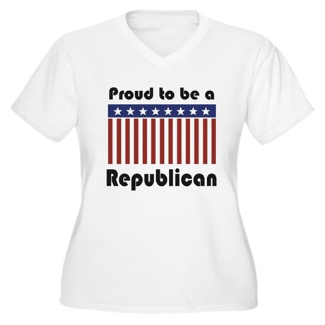 Proud to be a Republican Women's Plus Size V-Neck