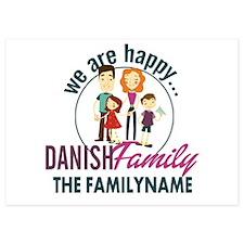 Personalized Happy Danish Family Invitations