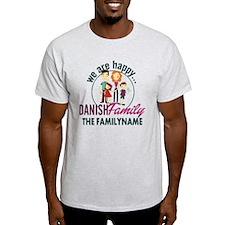 Personalized Happy Danish Family T-Shirt